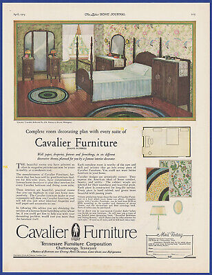 Vintage 1924 CAVALIER Furniture Chattanooga Tennessee Art Decor Print Ad 20's