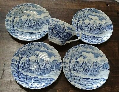 Myott Royal Mail Fine Staffordshire Ware 1 Cup 4 Saucers Made in England