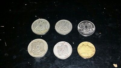 Egyptian / Middle Eastern coins 6 coin lot