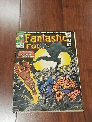 Fantastic Four #52 Vol 1 Nice But Low Grade 1st Appearance of the Black Panther