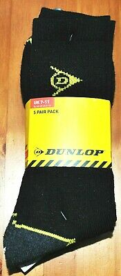 Mens 5 Pairs of Dunlop  Work  Outdoor Socks Size 7-11  Good Quality