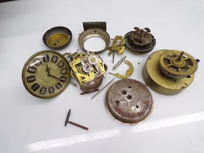 Lot Clockmaker Big Ben Westclox Brass Alarm Clock Movement Mercedes Parts D031