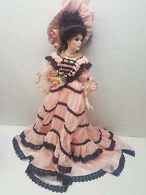 """Franklin Mint Heirloom Coca Cola Victoria Gibson Girl 20"""" Doll Hand Painted 1995"""