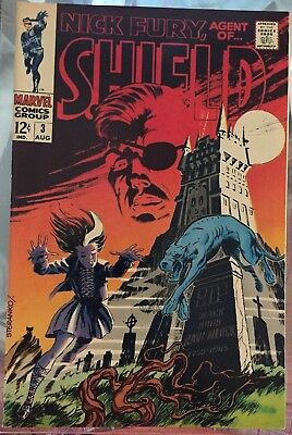 NICK FURY ,AGENT OF SHIELD # 3,1968  STERANKO cover      Nm-