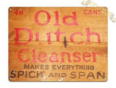 "TIN-UPS TIN SIGN ""Old Dutch Cleanser Box"" Kitchen Rustic Wall Decor"