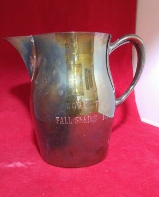 1978 vintage silverplated trophy pitcher MORC 78 Fall Series 1st place