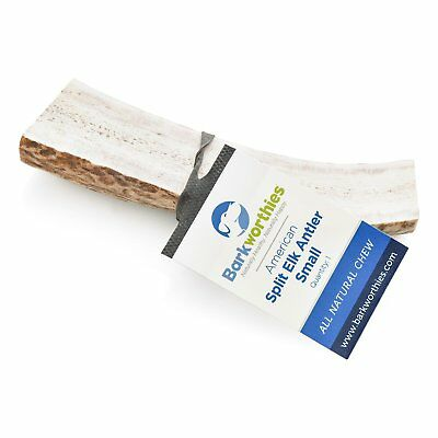 Barkworthies Select Elk Antler Split Small | All Natural Chew Treat for Dogs