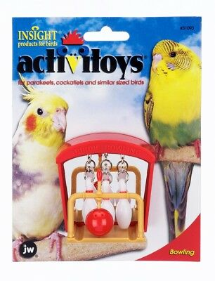 JW Pet Activitoy Birdie Bowling | Mirrored Surface Toy for Birds