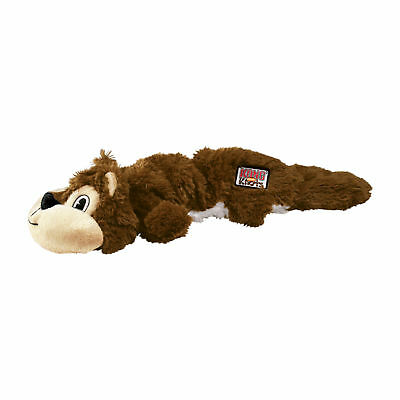 KONG Scrunch Knots Squirrel Dog Toy Sm/Med Realistic Pelt internal Knots NKS33