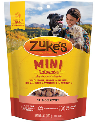 Zuke's Mini Natural Healthy Moist Savory Salmon Recipe Dog Training Treats 16 oz