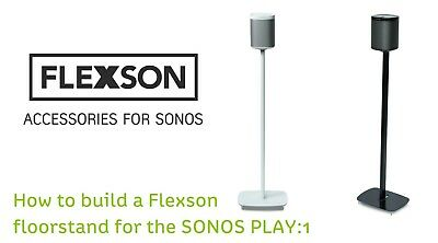 Sonos Play1 : FLEXSON FLOOR STAND  1 of PAIR IN WHITE ( Black ALSO AVAILABLE )