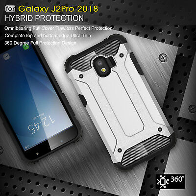 Hybrid Military Grade 360° Shockproof Armor Case Cover for Samsung Galaxy J2Pro
