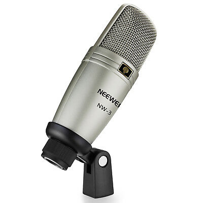 Neewer NW-3 Large Diphragm Condenser Microphone with Mic Holder Swivel Mount
