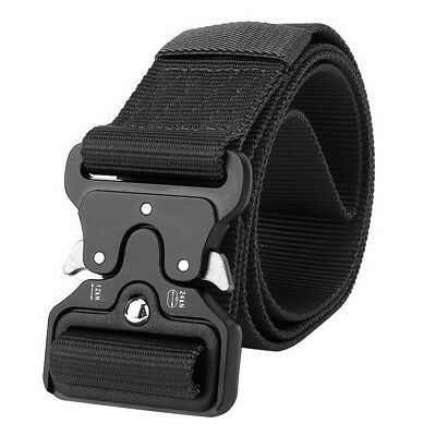 Cool Men Outdoor Hiking Sport Waistband Army Military Nylon Buckle Belt Glorious