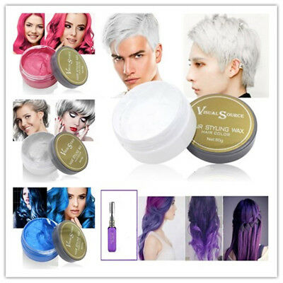 Unisex 6 Colors Hair Wax Hair Pomade Natural Hairstyle Professional Wax