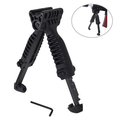 Tactical Swivel Foldable Bipod Military Foregrip 20mm Picatinny Rail For Rifle