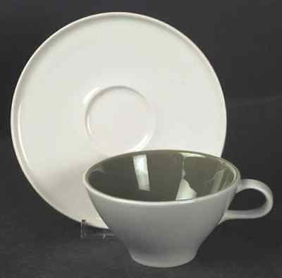 Iroquois ACCENT OLIVE GREEN Cup & Saucer 7615721