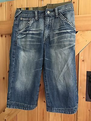 "Boys Crop Jeans Shorty Jeans Age 12-13 Years by H&M Dubster Waist 28"" Leg 16"""