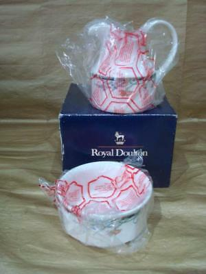 ROYAL DOULTON JUNO MILK JUG & SUGAR BOWL - NEW, 1st QUALITY, BOXED, UNUSED