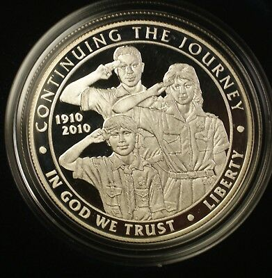 2010 Boy Scouts of America Proof Silver Dollar Coin in OGP Special Price