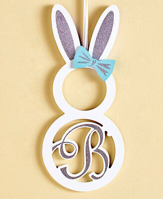 The Lakeside Collection Monogram Bunny Wall Hanging