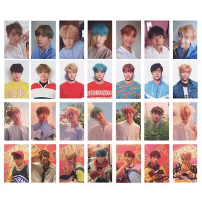 7Pcs/Set KPOP Bangtan Boys Love Yourself Album Photo Card V SUGA Photocard