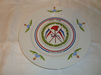 Rare French plate French Revolution 1789-1989, porcelain, Limited edition d-9.75