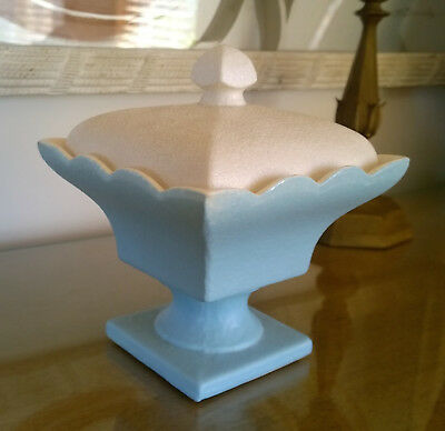 Hull Compote Candy Dish with Lid Rare Mint