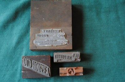BALTIMORE old horsey WHISKEY PRINTERS blocks (4)  SHERWOOD and others