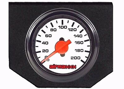 Air Bag Suspension Dual Needle White Air Gauge & Panel Display 200psi No Switch
