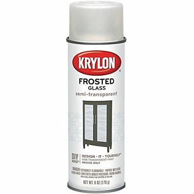 Krylon 9040 Frosted Glass Finish Glass Paints Aerosol, 6-Ounce, White Finish by