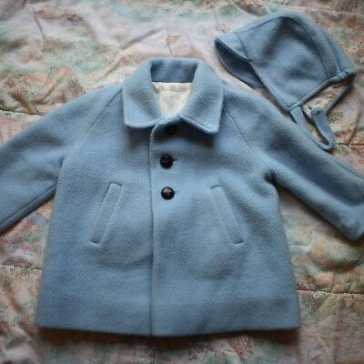 Vintage Blue Coat & Hat Set 18-24 Months 2T