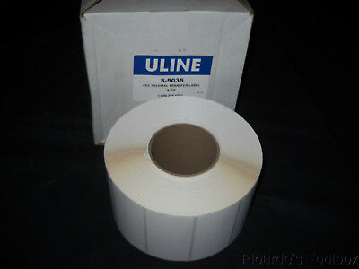 ULINE 4X6 DIRECT Thermal Labels 1000 labels/roll, 4 Rolls