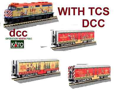 KATO 106-2015Dcc OPERATION NORTH POLE **W/TCS DCC **4 PC  SET