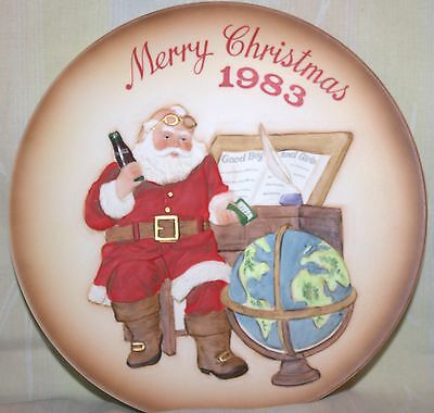 Coca-Cola, Coke Vintage Royal Orleans Plate 1983 - First Annual Santa Claus