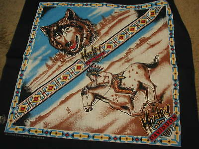 Harley Davidson Bandana Wolf brave American New old stock