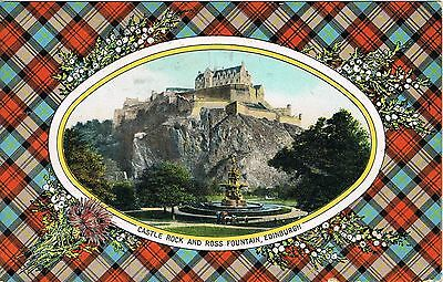 EDINBURGH - Castle Rock and Ross Fountain - BY BB LONDON