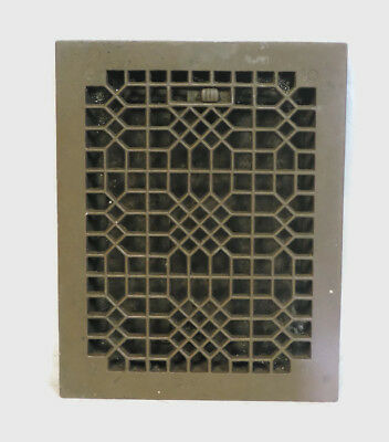 Antique Heavy Duty Cast Iron Heating Grate Vent Register Ornate Design 14 X 11