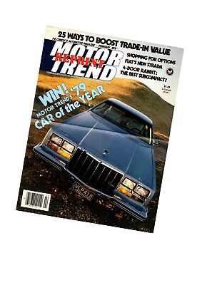 1979 Buick RIVIERA Car Of Year Road Test <brochure info> by Motor Trend, M/T