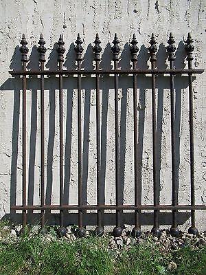 Antique Iron Garden Gate Fence Spearhead Architectural Salvage 43x1x47 #013