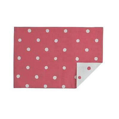 "NEW Kate Spade Charlotte Street 13"" x 19"" Hot Coral Placemat, 100% Cotton"
