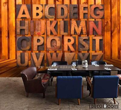3D Typographic Letters On Wall Living Room Art Wall Murals Wallpaper Decals Prin
