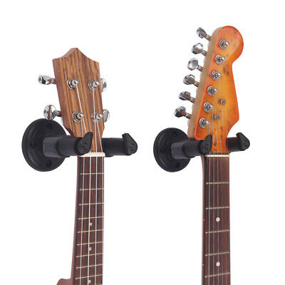 Guitar Wall Mount Hanger Stand Holder Hooks Display Acoustic Electric Bass Black