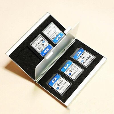 Chic Aluminum 6x SD SDHC MMC Memory Card Storage Box Case Holder for Canon Nikon