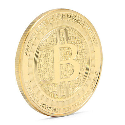 3mm Gold Bitcoin Commemorative Round Collector Coin Bit Coin Collection Souvenir