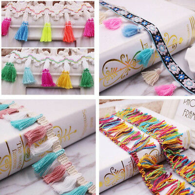 Curtain Fringe Lace Edge Trim Tassel Wedding Dress Ribbon DIY Sewing Craft xxf