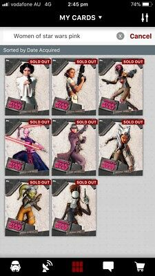 Star Wars Digital Cards from Topps – Women in Star Wars Set - Pink