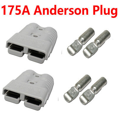 2X 175AMP 175a Anderson Style Power Plugs Battery Connector Disconnector Caravan