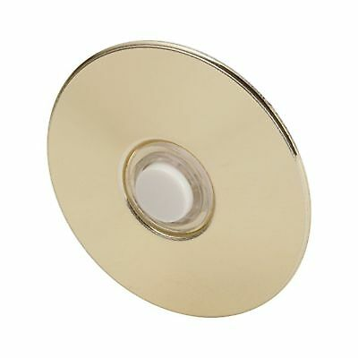 "Everyday Round Door Bell Chime Button Size: 2-1/2"" Brass"