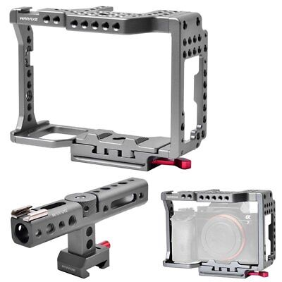 WARAXE Camera Video Cage Rig + Top Handle For SONY A7 A7II A7S A7SII A7R A7RII